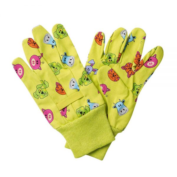 Briers Kids Cotton Gloves Farmyard