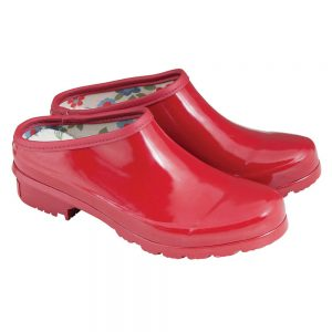 laura ashley classic red clogs