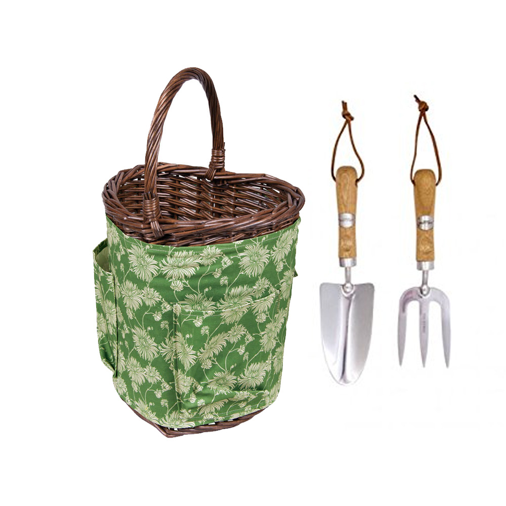 Kimono Heart Shaped Garden Tool Basket by Laura Ashley