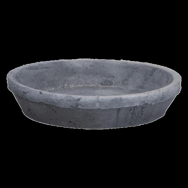 AT Grey Saucer Round