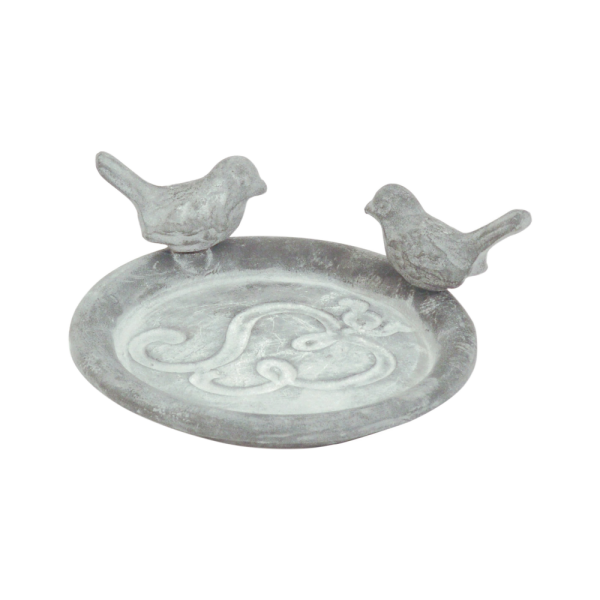 Pot Saucer with birds grey