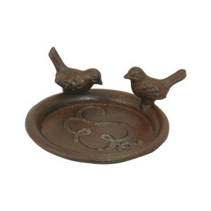 Pot Saucer with birds rust